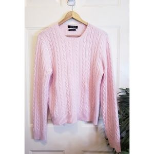 🎉Ralph Lauren Pink 100% Cashmere Knit Sweater🎉